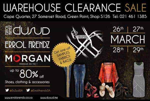 Errol Arendz Du Sud Warehouse Sale